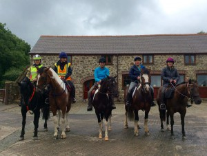 Horse and rider guests on holiday
