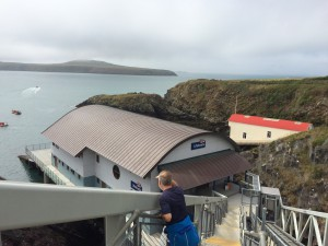 Old and new lifeboat stations at St Justinians