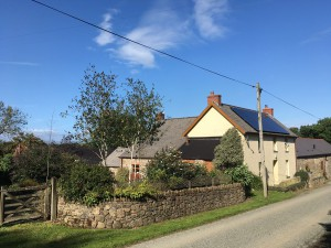 Longlands Farm on a quiet country lane in Pembrokeshire