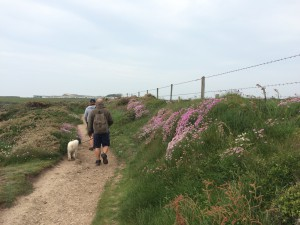 Coast path walking